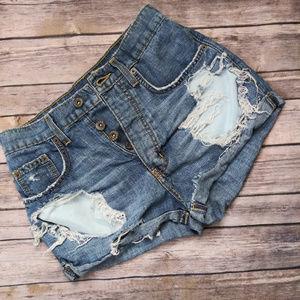 Carmar Destroyed denim Shorts size 24